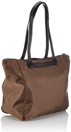 Plastic Shopping 497 mud Braun Nylon Woman Brown 9 Barcelona Bree Bag ATYSSt