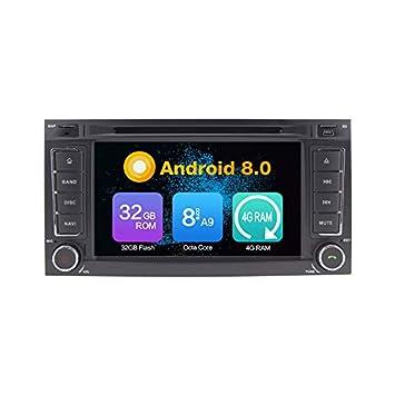 Octa Core 4GB Ram Android 8.0 Auto DVD GPS Navegación Multimedia Player Car Stereo Autoradio para