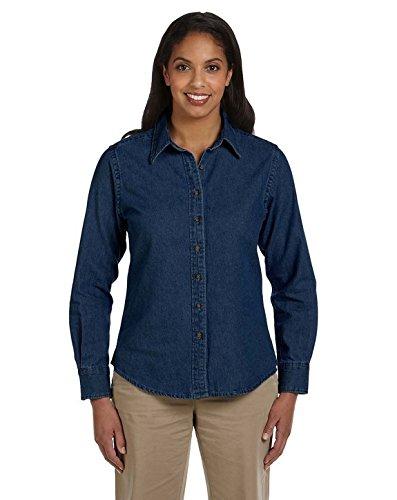 - Harriton M550W Ladies Denim Shirt Dark Denim Large