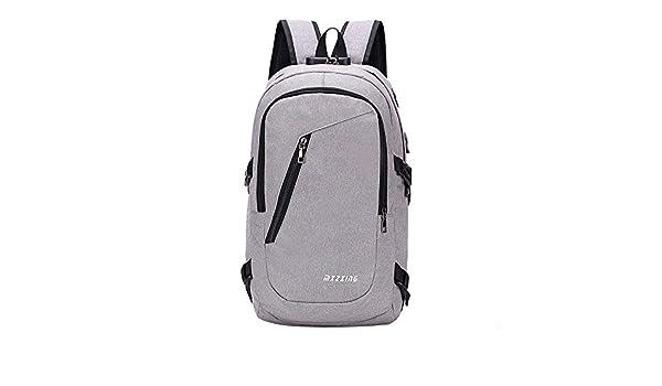 JiaMeng Unisex USB Mochila Messenger Bag Moda Casual Bolsa ...