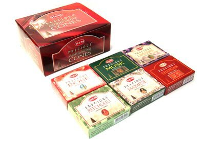 (Precious Series Assortment of Six Scents - Total of 12 Boxes, 10 Cones Each - HEM Incense From India)