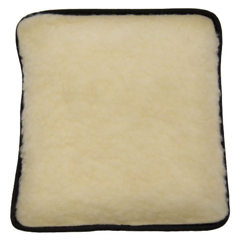 Hotties Microhottie Microwave Hot Water Bottle - Acrylic Lambswool Fleece - Cream by Hotties Thermal Packs