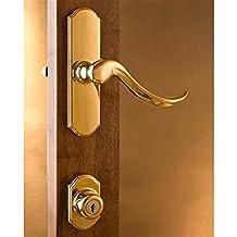 Normandy Surface Mount Storm Door Hardware Bright Brass 1 Inch Thick Door