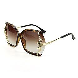 Blue Sunshine Lady Big Frame Metal Flowers Euroupe and America Style Fashion Sunglasses(K1)
