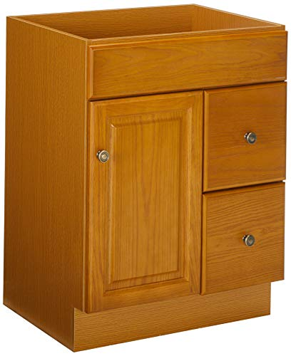 Design House 545137 Claremont Honey Oak Vanity Cabinet with 1-Door and 2-Drawers, 24-Inches by 18-Inches by 31.5-Inches