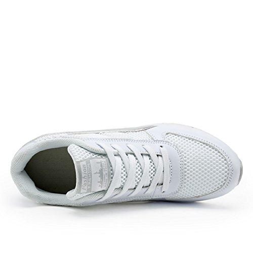 da Interna Zeppa LILY999 Sportive CM Grigio Scarpe Nero Donna Bianco Sneakers Tacco Zeppa Ginnastica Bianco Basse 7 Fitness wqppXCAUx
