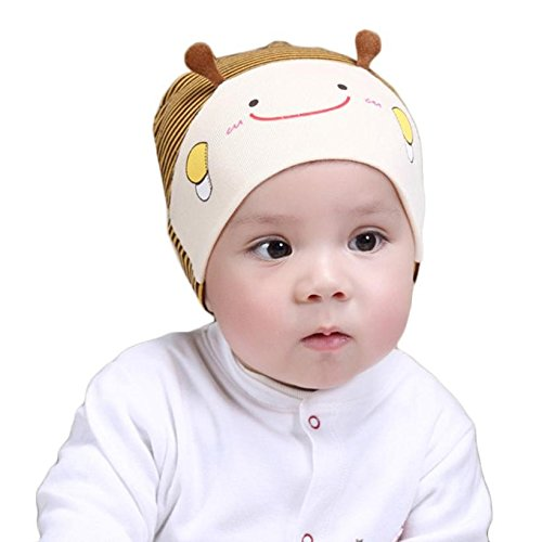 89277bd1c3c Bighub Hot Baby Photography Props Cute Kid Baby Boy Girl Toddler Infant Hat  Bee Baseball Cap Cotton Kids Hats Baby Bonnet Topi Bayi Beige  Amazon.in   ...