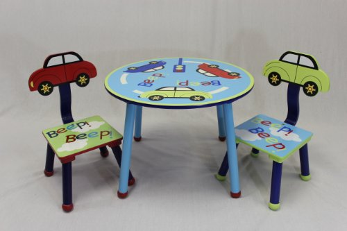 eHemco Kids Table and Chair Set - Car Theme by eHemco
