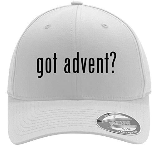 (got Advent? - Adult Men's Flexfit Baseball Hat Cap, White, Small/Medium)