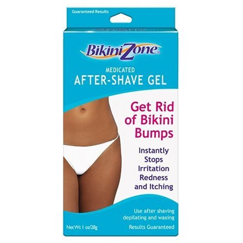 Bikini Zone Medicated After-Shave Gel, Anti-Bumps, 1 oz (28 g) (Pack of 3)