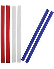 SUPER KITCHEN Mätning av Silikon DegtjocklekRemsor 38cm, Rullpinne Guider Set, Avtagbar Silikon Remsa, Rullpinne Distanser Pinnar för Bakning, Fondant Glasyr, 3 Storlek deg Rullande Remsor (2, 4, 6mm)