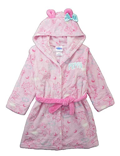(Peppa Pig Girls Bathrobe for Toddler Plush, Pink, 3T)