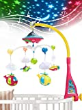 UNIH Baby Crib Mobile with Lights and Music, Moon
