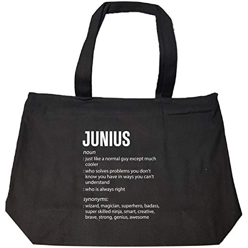 Junius Name Meaning Xmas Birthday Gift - Tote Bag With Zip