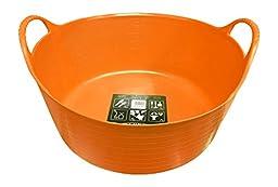 TubTrug SP15O Shallow Orange Flex Tub, 15 Liter