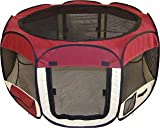 Burgundy Pet Tent Exercise Pen Playpen Dog Crate XS Review