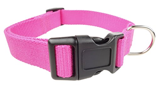 Luxurious Bamboo - Organic Bamboo Dog Collar Happy's Eco-Friendly Pet Accessories (Large Pink)