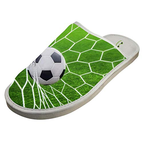 Slippers with Sports Soccer Custom Indoor Sandals Family Shoes Flat House Flip Flops 6 B(M) US by JLL-HITOLY