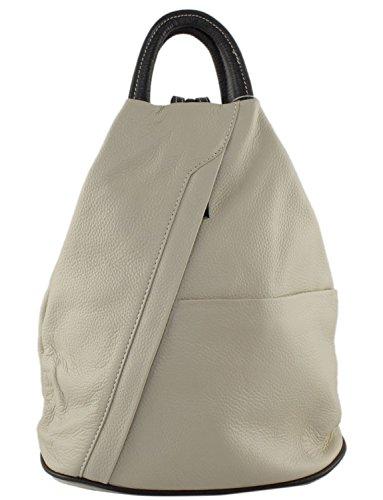 Daypack Handbag And Leather Backpack Cavalieri Rucksack Moda Bag Daniela Italian Brown School Cream px6Iq