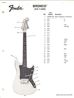 fender bronco electric guitar parts list fender electronics sunn rh amazon com Guitar Wiring For Dummies Guitar Wiring Diagrams 3 Pickups