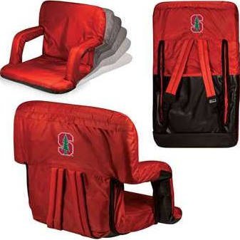 (NCAA Stanford Cardinal Ventura Portable Reclining Seat, Red)