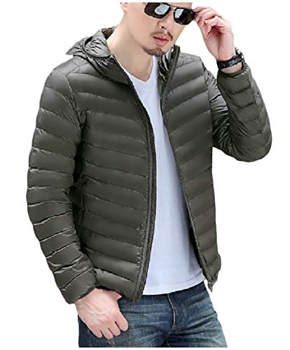 up Winter fit Stylish Down AS10 Ultra Light Weight Coat MogogoMen Zip Standard q67XpW