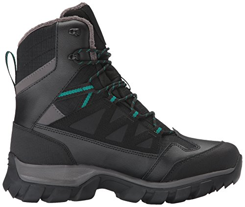 Salomon Women's Chalten TS CSWP W Snow Boot, Black/Autobahn/Veridian Green, 6 M US Black/Autobahn/Veridian Green