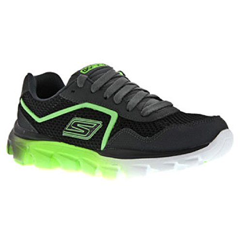 Skechers GO Run Ride Supreme Childrens Trainer Black/Red / Big Boys Trainers (1 US) (Charcoal/Lime)