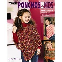 Ponchos For Kids - Crochet Patterns