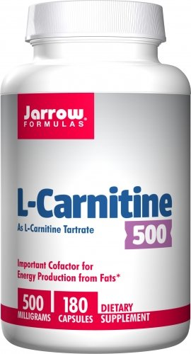 Jarrow Formulas L - Carnitine Tartrate 500mg, 180 Capsules (pack of 3)