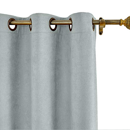 """ChadMade Thermal Insulated Blackout Extra Long Curtains 84"""""""