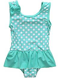 8b22ca1099 Baby Girls' One Piece Swimsuit Toddler Girl Sleeveless Ruffles Swimwear