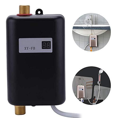 Julitech Calentador de Agua sin Tanque de Interior, 3KW/3.4 KW/3.8 KW eléctrico instantáneo Calentadores de Agua Caliente...