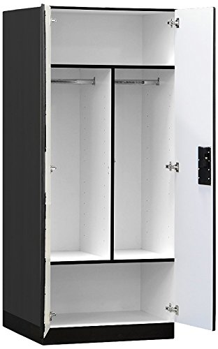 Salsbury Industries Designer Wood Storage Cabinet Wardrob...