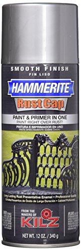 Masterchem Industries 42205 Hammerite Rust Cap Smooth Enamel Finish, 12 Oz Aerosol Can, 18 Sq.-Ft/Gal, Aluminum, ()