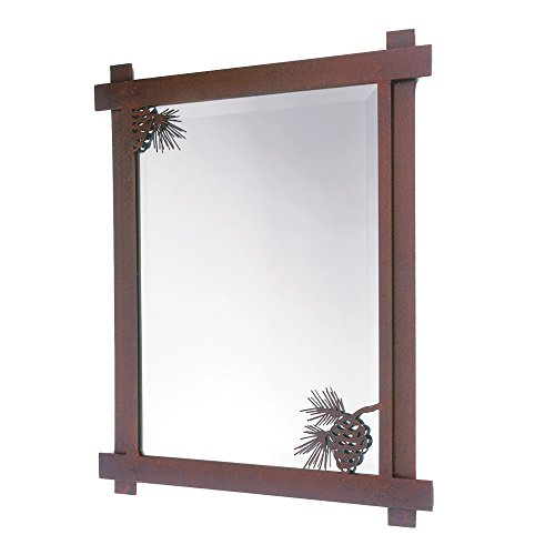 Steel Partners Lighting Mirror  Pinecone