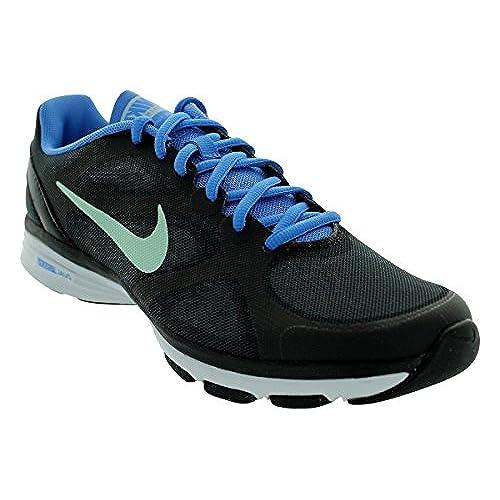 72894f177c93 hot sale 2017 Nike Dual Fusion TR Women s Training Shoes 443837 012  Black Blue -