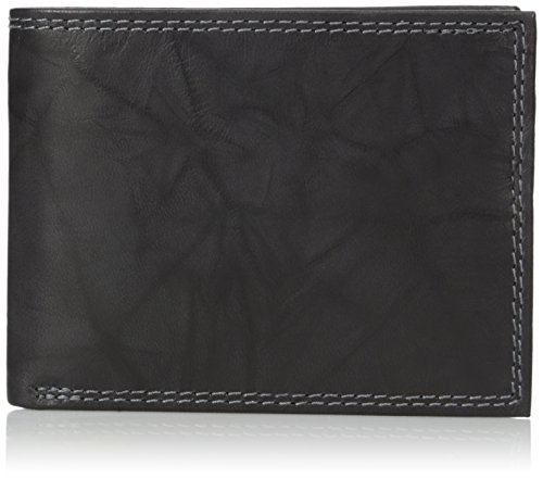 Buxton Cowhide Wallet - Buxton Men's Hunt Credit Card Billfold Wallet, Black, One Size
