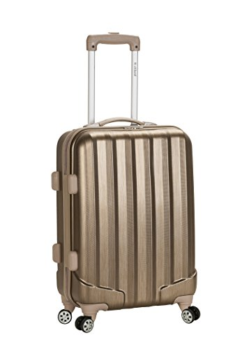 Rockland Luggage Melbourne 20 Inch Expandable Carry On, Bronze, One Size