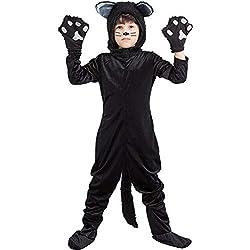 LSGNB Ropa De Rendimiento Animal Gato Negro Disfraz De Gato Infantil Traje De Escenario for Niños Disfraces De Halloween (Size : L)