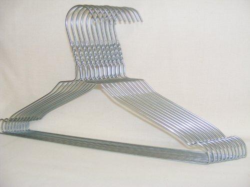 100 Drahtbügel - für HEMDEN UND BLUSEN - von KleinesKaufhaus24 - Top Qualität - Hochwertig verzinkter Stahl - Materialstärke 2,0 mm