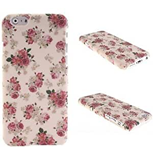 Red Flower Patterns PC Hard Cover for iPhone 6 Plus
