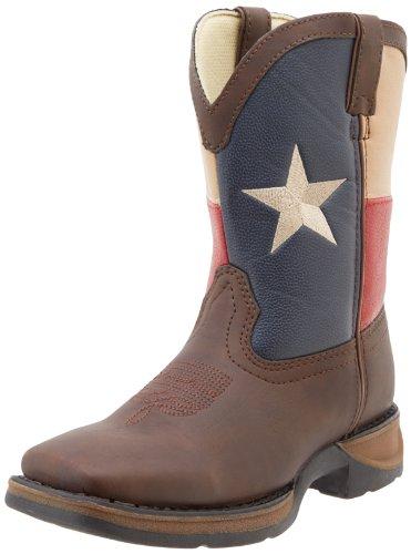 Durango Kids BT246 Lil' 8 Inch Texas Flag,Brown/Texas Flag,1 M US Little Kid