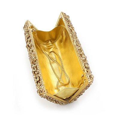 KYS Mujer Metal Pedrería Cadena Metálico Magnético Dorado Oro Claro , gold LIGHTGOLD