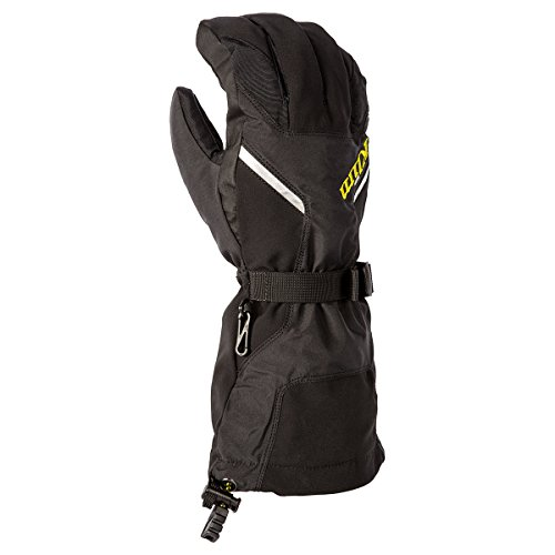 Black Snowmobiles (Klim Klimate Men's Ski Snowmobile Gloves - Black / Large)
