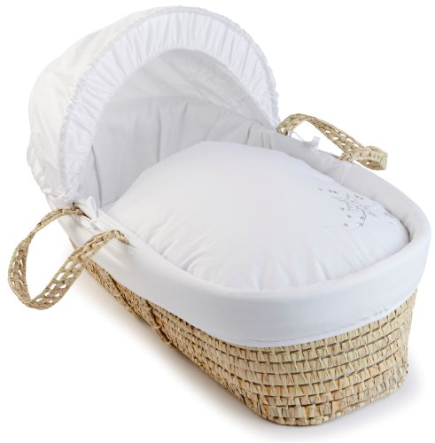 Clair de Lune Starburst Palm Moses Basket (White)