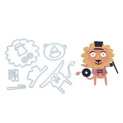 (キッズ ホウス)KIDS HOUSE タイガー スクラップブッキング ダイカット エンボステンプレート ペーパーエンボス 切削ステンシル 切り抜き紙を作れる型の商品画像