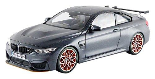 BMW M4 GTS, matt-dunkelgrau/orange, 2016, Model Car,, I-Minichamps 1:18 -