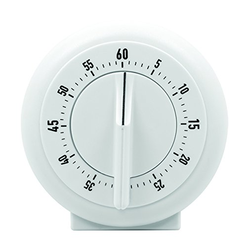 MARATHON TI030001WH 60 Minute Mechanical Wind-Up Timer - White