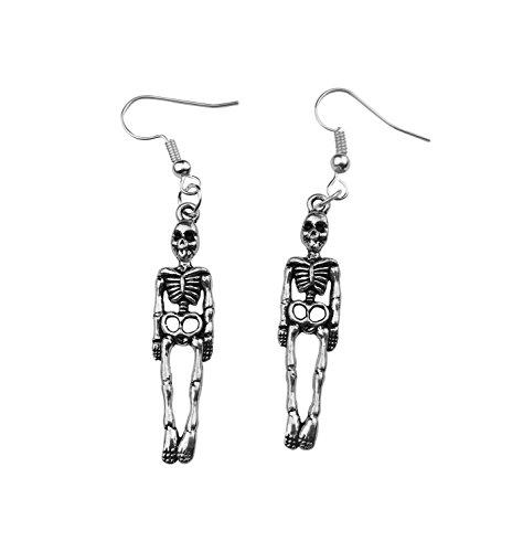 Art Attack Halloween Skeleton Earrings Skull & Bones Holloween Costume Goth -